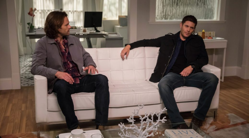 "Supernatural -- ""The Big Empty"" -- Image Number: SN1304b_0011b.jpg -- Pictured (L-R): Jared Padalecki as Sam and Jensen Ackles as Dean -- Photo: Jack Rowand/The CW -- © 2017 The CW Network, LLC All Rights Reserved."