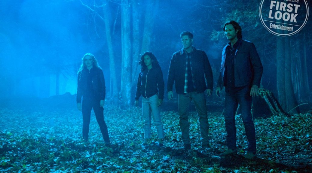 Supernatural  Episode: Wayward Sisters Pictured (L-R): Kathryn Newton, Yadira Guevara - Prip, Jensen Ackles, Jared Padalecki